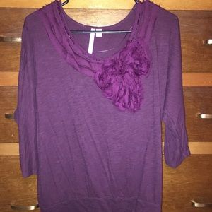 Plum quarter length blouse